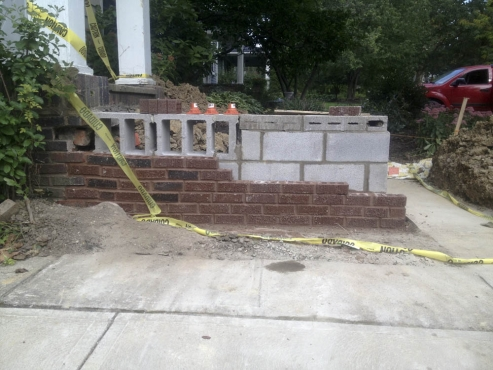 Exterior Masonry Stairs Cleveland Heights