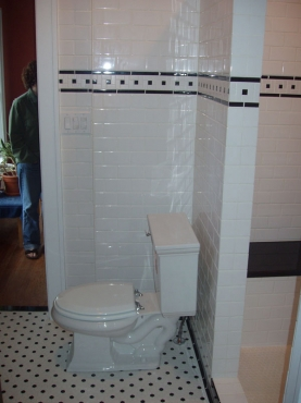 Remodeled Bath, updated tile and fixtures in Cleveland Heights, OH