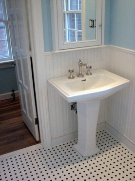 Updated Bathroom remodel with modern fixtures in University Heights Ohio