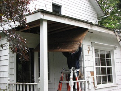 Exterior roof and carpentry repair in Gates Mills, OH