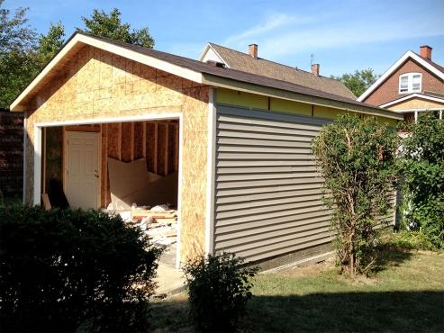 Cleveland Heights Garage Construction