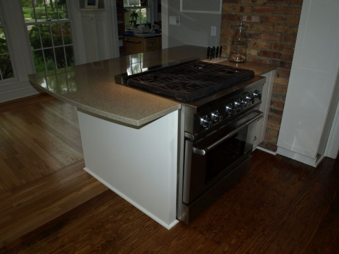 Commercial style range and stove installation, Cleveland Heights, Ohio