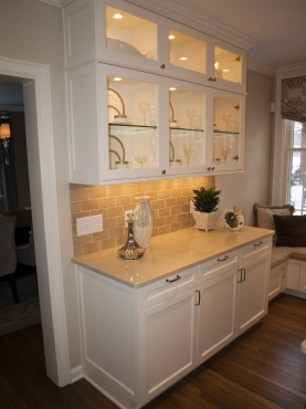 Show off your beautiful dishes while storing many more below. Upper cabinets have glass shelves that allow light to cascade downward.