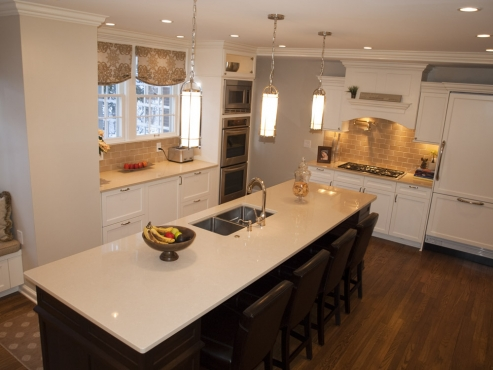 Lots of lights in this Shaker Heights kitchen.