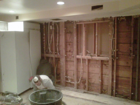 Begining phases of kitchen remodeling project in University Heights, Ohio