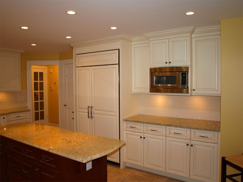 Custom cabinetry adds a wealth of new storage for the owners of this dream kitchen in University Heights, Ohio.