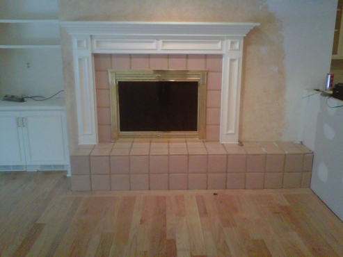 Fireplace being prepared for rennovation