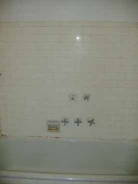 Outdated bath in Cleveland Heights, OH in need of repairs and renovations by The Beards Group