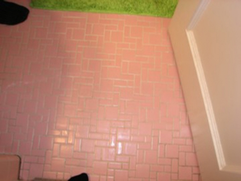 Bathroom flooring renovation by The Beard Group in Shaker Heights, OH
